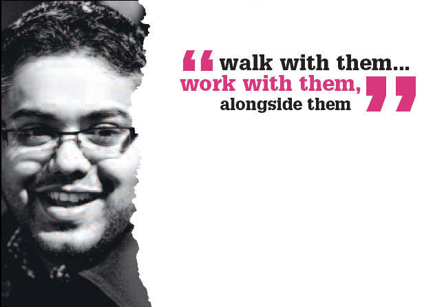 walk with them - image from the Rank Foundation publication Journeying together